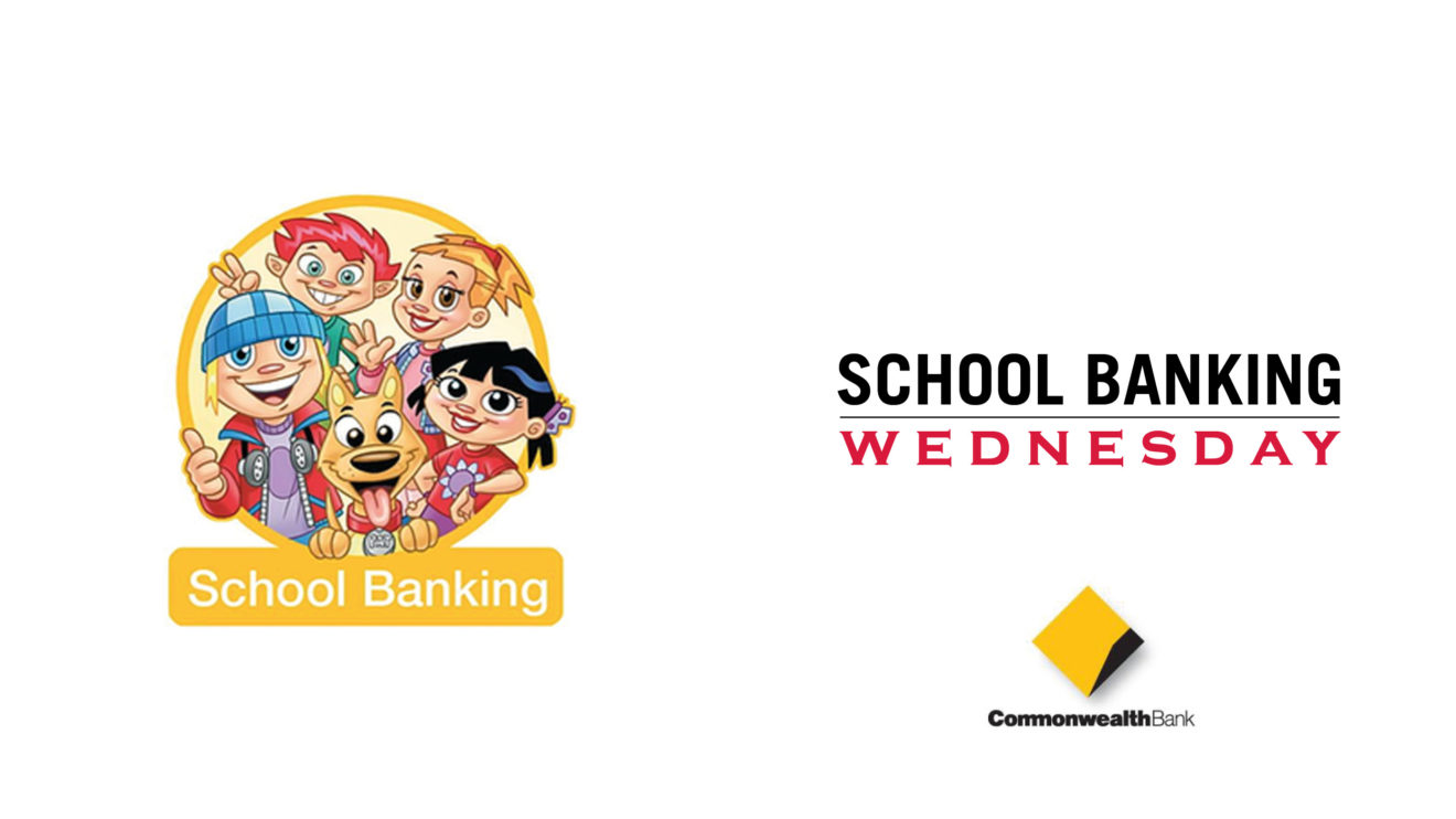 SCHOOL BANKING DAY IS WEDNESDAY