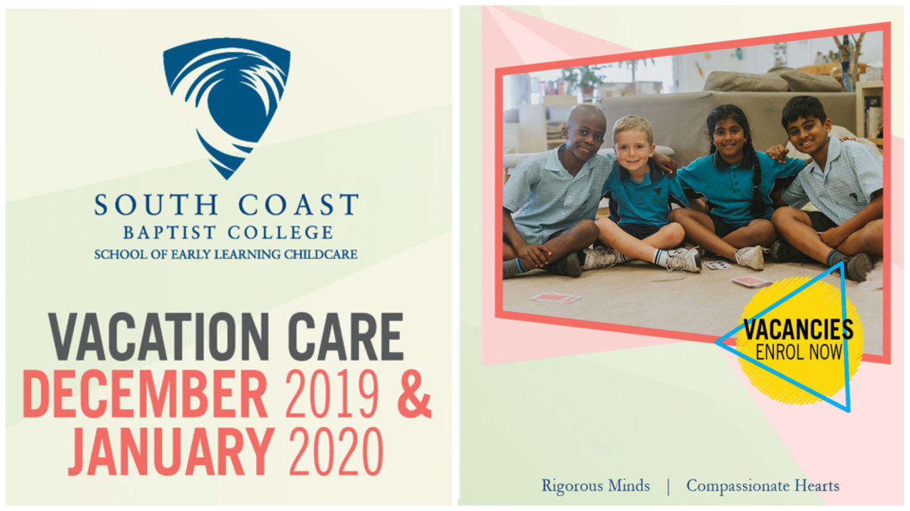 VACATION CARE PROGRAM - DEC/JAN 2020 HOLIDAY