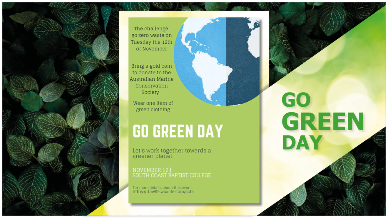 'GO GREEN' DAY