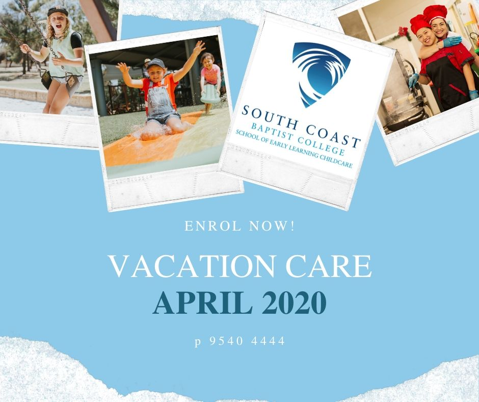 VACATION CARE - APRIL 2020 Holidays